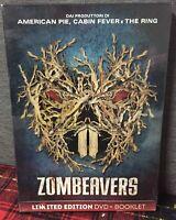 ZOMBEAVERS DVD Nuovo Sigillato Limited Edition + Booklet RN