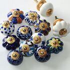 Manija de Muebles muebles, Pomos para keramik-möbelknäufe Perilla AZUL-BLANCO ZW