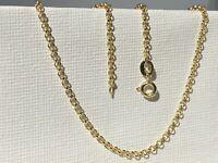 "Genuine 9ct Yellow Gold 2mm Round Belcher Link Chain Necklace -16"" 18"" 20"" 22"""
