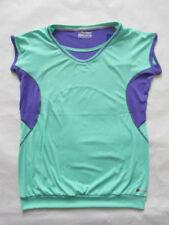 Camiseta de deporte de mujer verde de poliéster