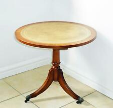 Shaw of London Mahogany Coffee / Side Table Light Brown Leather Reprodux style