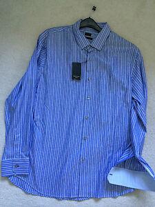 Paul Smith London Ls Shirt Größe 17.5/44 Slim Fit p2p