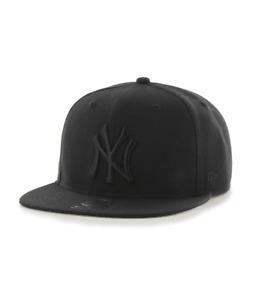New York Yankees '47 Brand Youth No Shot Black on Black Captain Snap Back - Hat