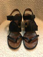 Chie Mihara 36 Leather Black  Sandal Heels