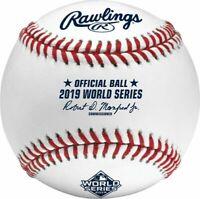 2019 World Series MLB Rawlings Official Baseball in Box