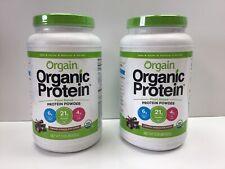 Orgain - Organic Protein - Chocolate - 2lbs - 2ct - Exp 11/21/2021 & 12/27/21