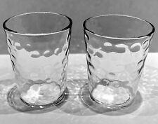 "Depression Federal Glass Co. 2"" tall Whiskey Shot Glass Raindrop Optic barware"