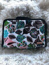 Stephanie Johnson Cosmetic Bag Makeup Tote Shells Black Green Blue Pink