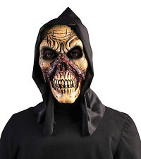 MENS BLOODY EXECUTIONER SKULL ZOMBIE MASK HOOD HORROR HALLOWEEN FANCY DRESS  NEW