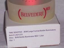 New In Box BELVEDERE RED Vodka Bottle Illuminator Unit Flashes Or Steady Light