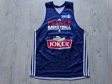 FRANCE basketball FDJ FFBB 2015 euro maillot réversible jersey shirt joker T : M