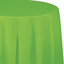 """82"""" Fresh Lime Green Wedding Birthday Party Tableware Plastic Round Table Cover"""