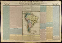 1837 - Carta geografiche antica America da Sud (del Sud). Incisione