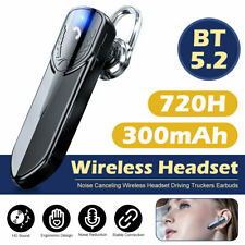 New listing Wireless Bluetooth 5.2 Earpiece Driving Trucker Headset Noise Cancelling Earbuds