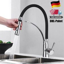 Edelstahl Küchenarmatur Ausziehbar 360° Brause Bad Wasserhahn Spültischarmatur
