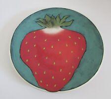 "Rainbow Gate Pottery Santa Fe STRAWBERRY Dinner Plate 11"""