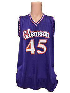 NEW Rare Authentic Vintage Men's CLEMSON Tigers NCAA Basketball Jersey Size 2XL