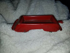 VINTAGE PRESSED  METAL TOY RED  WAGON TRAILER