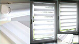 Doppelrollo Klemmfix Duo Rollo ohne Bohren Seitenzugrollo Kettenzugrollo Fenster