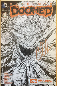 Superman:  Doomed #1 Amazing Comic Con Exclusive Cover Signed Charles Soule