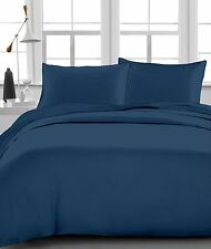 """Fitted Sheet , 1000 TC, Drop 15""""Inch, Queen Size - Navy Blue Solid"""