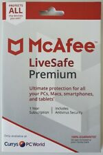 McAfee LiveSafe Premium 1 Year Subscription
