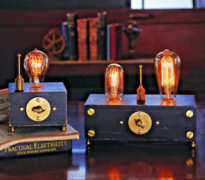 Pendulux ELECTRO LAMP SINGLE or DOUBLE Accent Lamp NEW MINT InDuStriAL STEAMPUNK