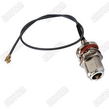 """IPX / u.fl to N-Type female bulkhead RF pigtail cable 1.13mm for Wi-Fi Radios 6"""""""