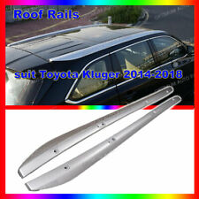 ABS plastic Silver Roof Rail Rack Luggage Carrier suits Toyota Kluger 2014-2019