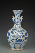Vintage Chinese Blue and White Porcerlain Phoenixs Vase Ming Period ???.