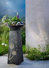 Metall Pflanzsäule Pusteblume mit LED Beleuchtung - Pflanzschale, Deko -