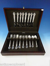 English Gadroon by Gorham Sterling Silver Flatware Set For 8 Service 32 Pieces