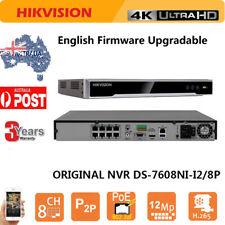 HIKVISION NVR DVR DS-7608NI-I2/8P 8CH 8 POE 4K H.265 For HIKVISION IP Camera