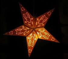 "24"" Garnesh Yellow Paper Star Hanging Lantern Lamp (Light Cord Is Included)"