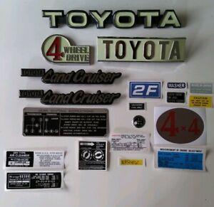 Toyota Land Cruiser Fj 40 2f Emblems And Decals