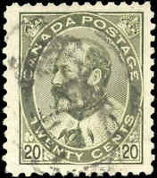 Canada Used 1904 20c F+ Scott #94 King Edward VII Stamp