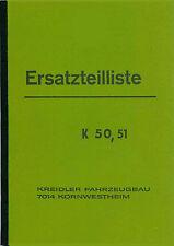 Kreidler K 50 K 51 Ersatzteil Liste Teile Katalog Buch Neu