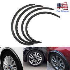 4PCS Car Carbon Fiber Wheel Eyebrow Arch Trim Lips Fender Flares Protector Strip
