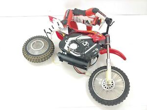 RARE Ricky Carmichael Radio Shack RC Motorcycle - FOR PARTS