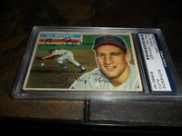 1956 Topps #35 Al Rosen Signed AUTO Cleveland Indians PSA/DNA