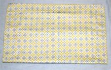Magnolia Organics 100% Cotton Crib Sham ~ Yellow Gray Graphic ~ 15 x 19  **NEW**