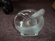 Partylite Clear Glass W Frosted Glass Whale Tealight Votive Candle Holder Beach