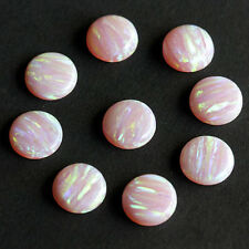 5MM Sparkling Fire Opal Round Shape, Colorful Calibrated Cabochons AG-258