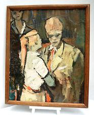 Spannendes expressionistisch gemaltes Ölbild, signiert, gerahmt, 55x67cm. (Ö15)