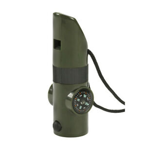 NDuR olive green 7-in-1 SURVIVAL outdoor WHISTLE new 23030 hiking camping gear