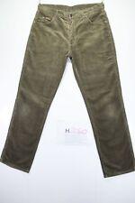 Lee Texas Stretch (Cod. H2060) Tg48 W34 L32 jeans usato Vita Alta velluto verde