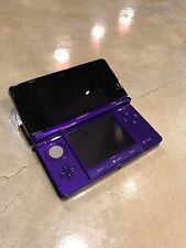 Nintendo 3DS - Midnight Purple - Clear & Travel Cases - 7 Game bundle - Perfect