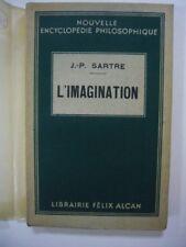 JEAN-PAUL SARTRE L'IMAGINATION 1936 FELIX ALCAN EO TRES BON ETAT