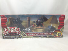Transformers Robot Heroes Battle of the Fallen Optimus Prime Ironhide NEW MIB