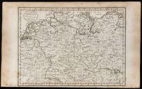 1800 - Alemania Prusia - Mapa Geográfica Antigua - Grabado Por John Paas